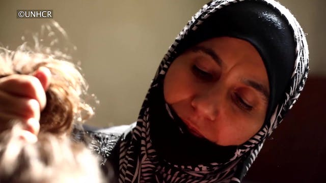 Syrian refugees who escaped war conti...