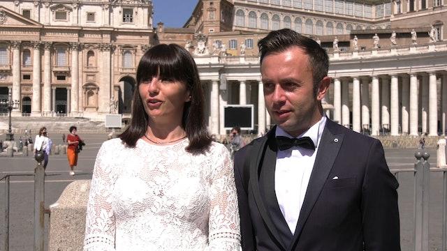 Pareja de novios cuenta al Papa por qué se casaron durante la pandemia