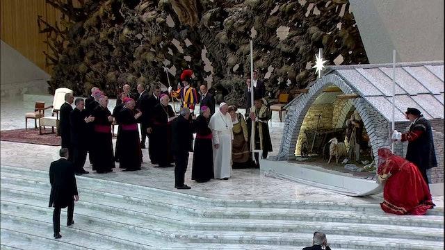 El otro gran pesebre del Vaticano, el del Aula Pablo VI