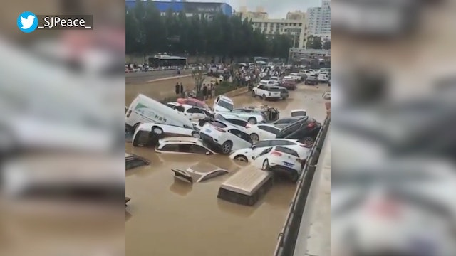 """Pope Francis prays for victims of flooding """"calamity"""" in China"""