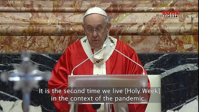 Pope Francis prays for the victims of...