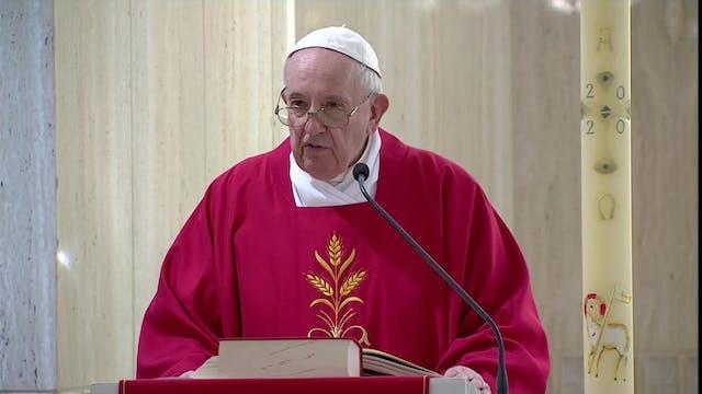 Papa en Santa Marta: Existe la pandem...