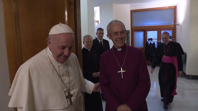 Papa y líderes ortodoxo y anglicano p...