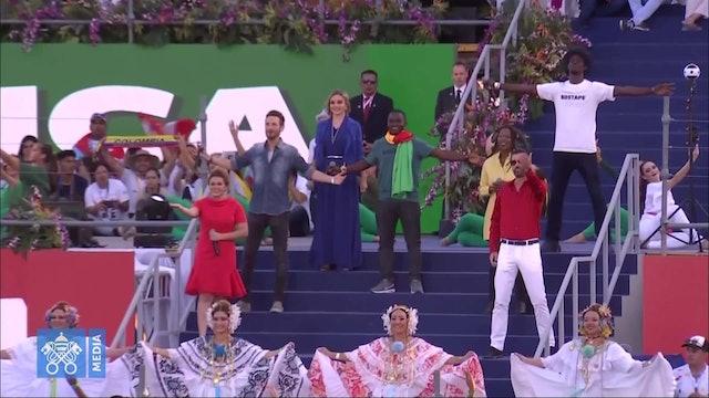 Interpretan en ceremonia de apertura de JMJ el espectacular himno de Roma 2000