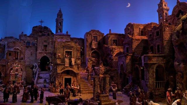 Spectacular Nativity scene in Italian...