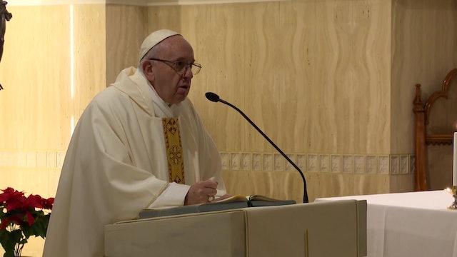 Papa en Santa Marta: Dios es concreto, su criterio no son las ideas y las palabr