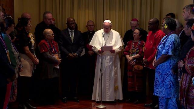 Papa con indígenas en la FAO: No igno...