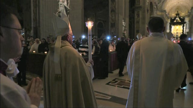 Papa preside misa en el Vaticano para...
