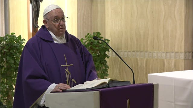 El Papa en Santa Marta medita sobre l...