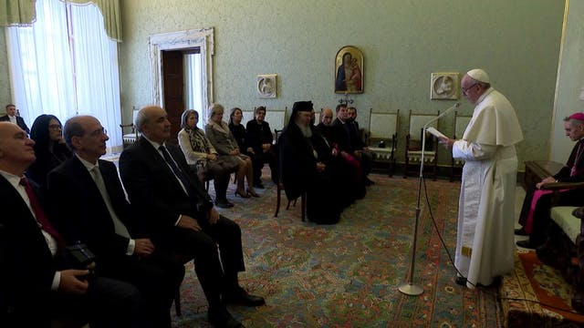 Pope Francis meets Orthodox Church of...