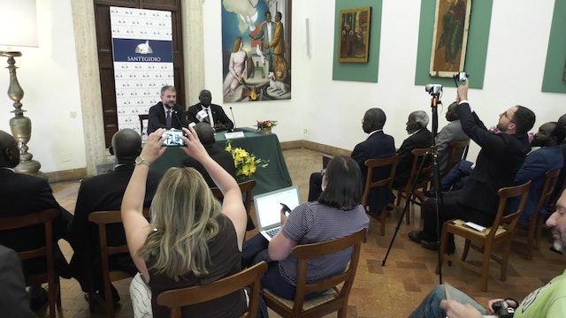 Políticos de Sudán del Sur vienen a Roma para  construir la paz en el país