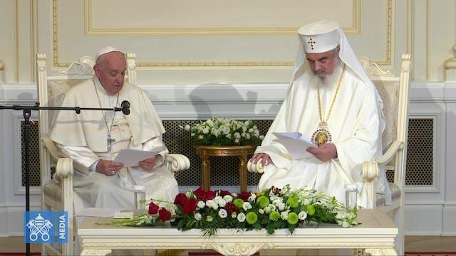 Orthodox Patriarch Daniel warmly rece...