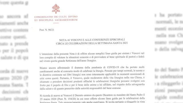 Vaticano autoriza nuevas restriccione...
