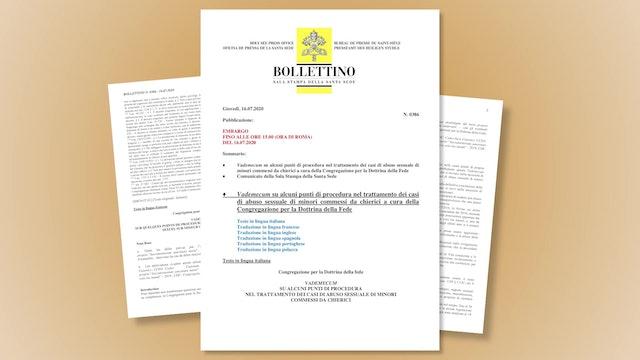 Vaticano explica a obispos cómo actuar ante casos de abusos