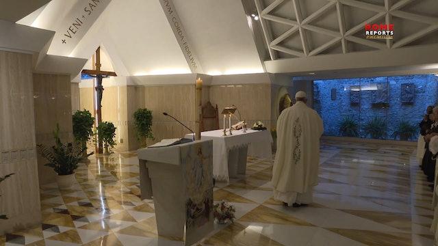 Papa en Santa Marta: Un cristiano que no se deja guiar por el Espíritu Santo es
