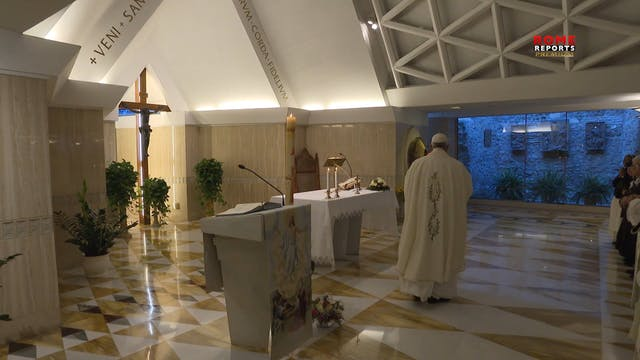 Papa en Santa Marta: Un cristiano que...