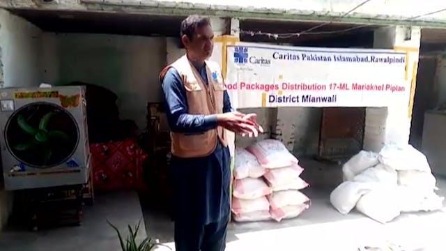 Cáritas Pakistán distribuye alimentos...