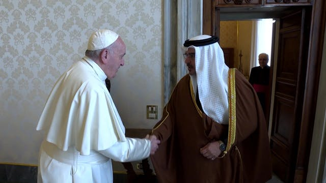 Prince of Bahrain invites Pope Franci...