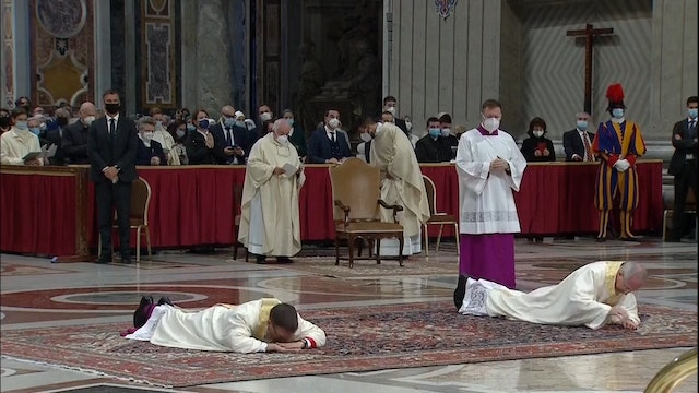 Pope Francis ordains Guido Marini, asks bishops to spend more time in prayer