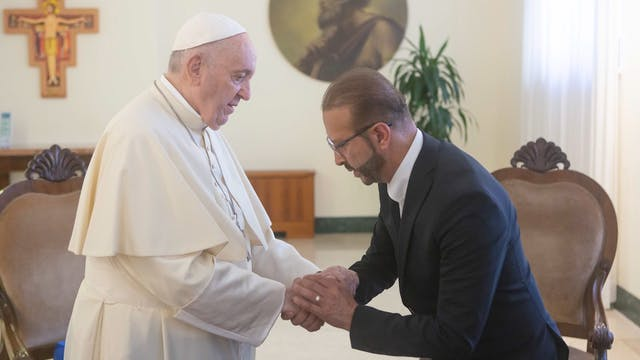 After shining the Pope's shoes, entre...