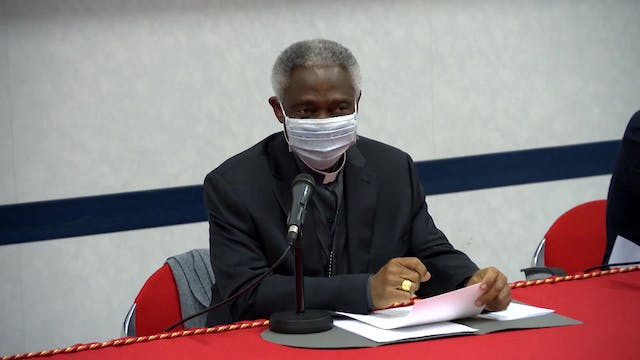 Cardinal Turkson visits doctors and n...