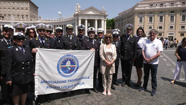 Italy's local police to pope: We want to protect the most humble and needy