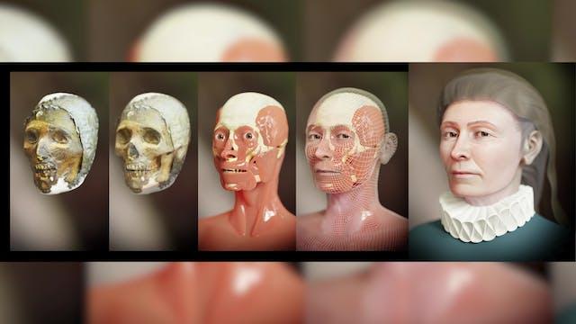 Diseñador 3D reconstruye el rostro de...