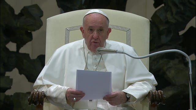 Pope Francis explains the meek in the...