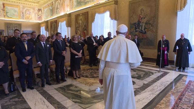El Papa a organizadores de la JMJ de Panamá: Quedé contento de su ternura