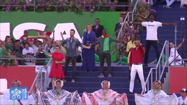 Spectacular athem from WYD 2000 sung at Panama WYD's opening ceremony