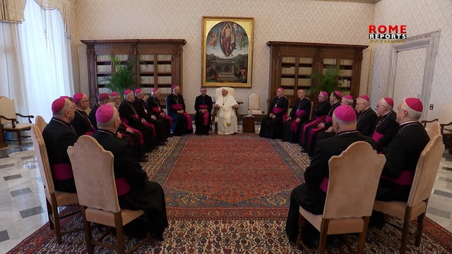 Francisco se reúne con obispos de Polonia