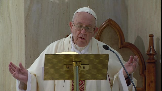 Pope Francis prays that those in the ...