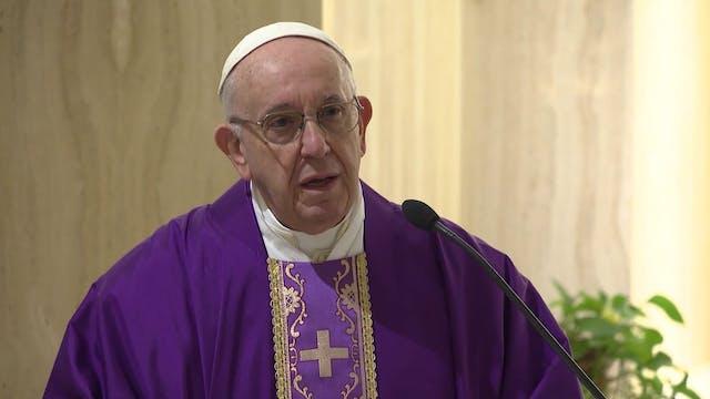 Papa en Santa Marta: Si no habláramos...
