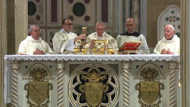 Francisco visitó la iglesia más antig...