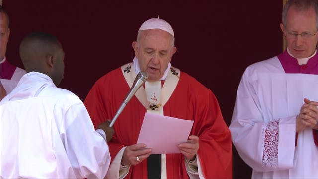 Pope in Palm Sunday Mass: Jesus Chris...