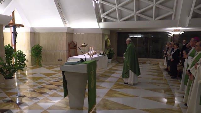 Papa en Santa Marta: Jesús no se aver...