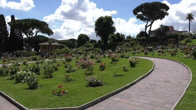 Rome's great garden with 1,100 specimens of roses