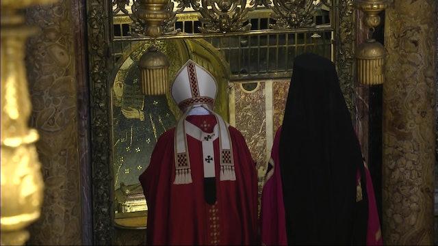Papa regala al principal líder ortodoxo una reliquia de San Pedro