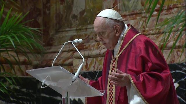 Pope Francis celebrates the Passion o...