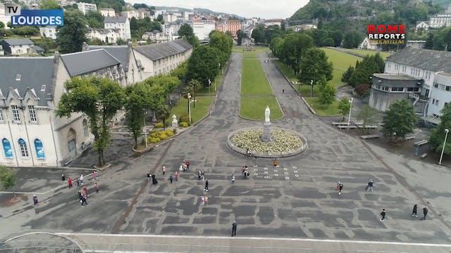 Sanctuary of Lourdes partially reopen...
