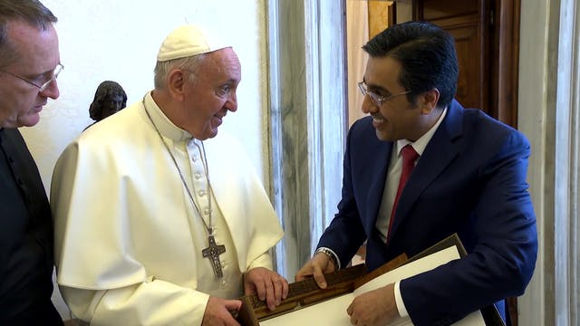 Pope Francis meets with president of ...