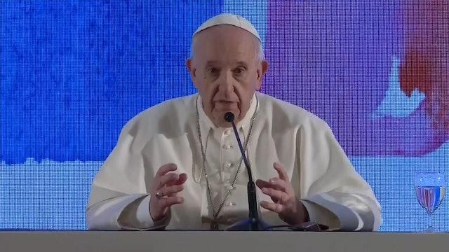 Papa en encuentro con obispos: ¿No hay periodistas? Entonces puedo hablar libre