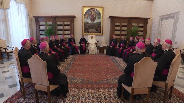 Pope Francis meets with Polish bishops