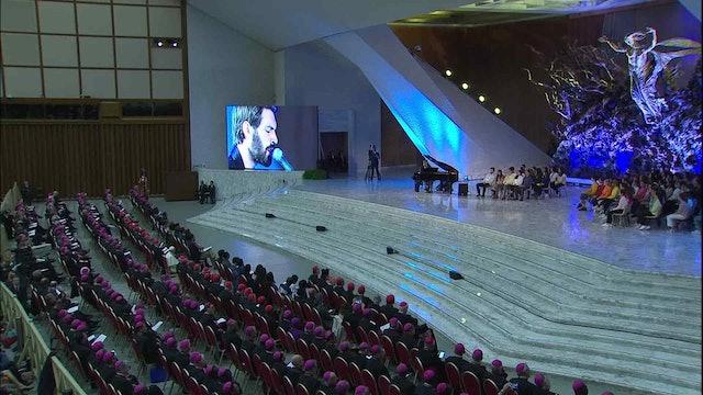 La hermosa canción que el ganador del festival de San Remo cantó ante el Papa