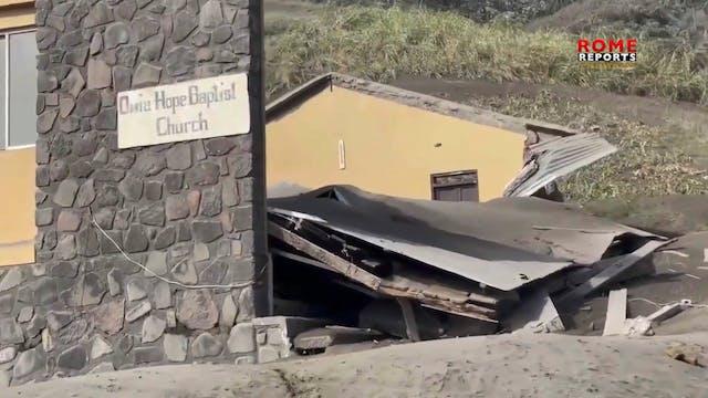 El Papa reza por víctimas de erupción...