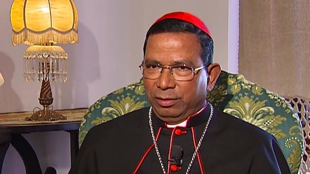 El cardenal de la India Telesphore Pl...