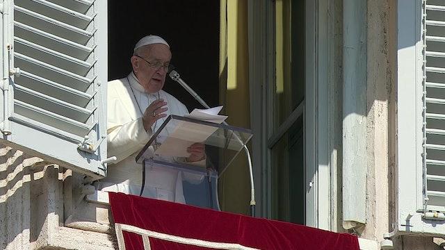 Papa en el ángelus: Las guerras comienzan con la lengua