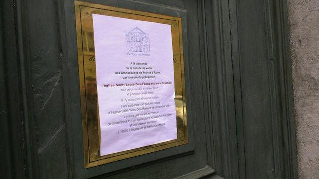 Iglesia de los Caravaggios de Roma reabre tras cerrar por riesgo de coronavirus