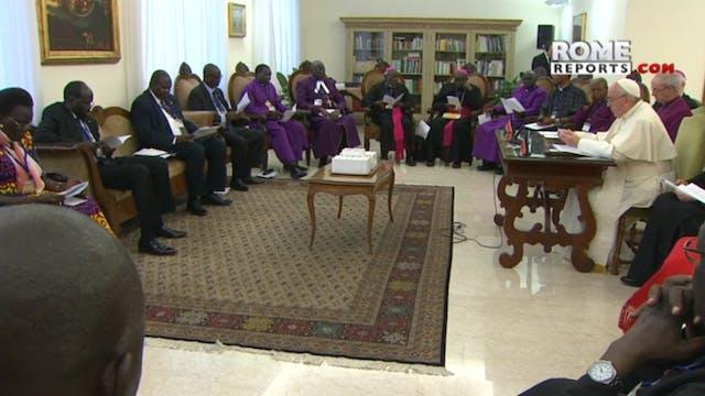 Papa a líderes enemigos de Sudán del ...