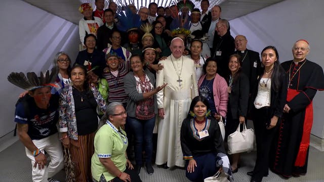 Pope meets with indigenous leaders in...